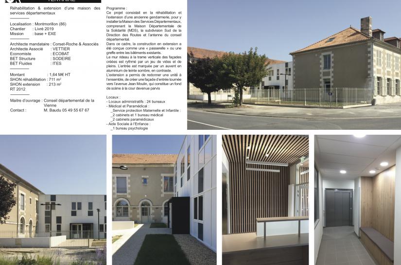 Maison des Services Départementaux à Montmorillon