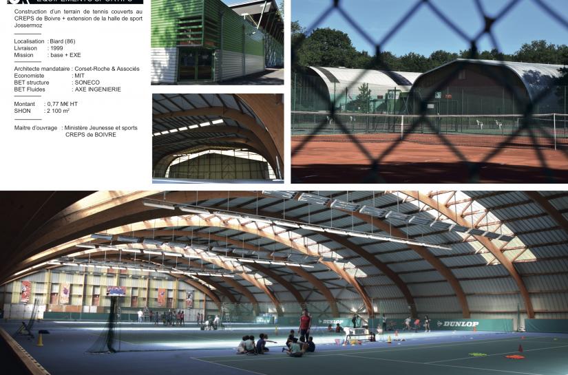 Tennis couverts et halle de sports Jossermoz au CREPS de Poitiers