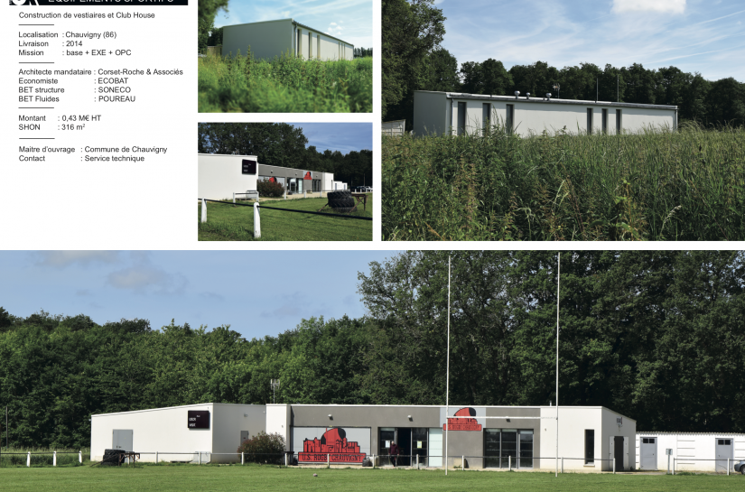 Vestiaires et Club-house de Chauvigny