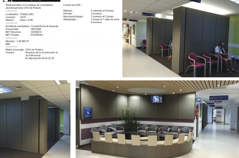 CHU Poitiers - plateau de consultations