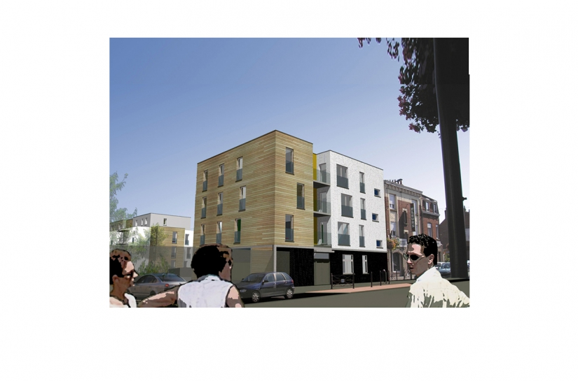 Projet de 47 logements collectifs - Image d'insertion