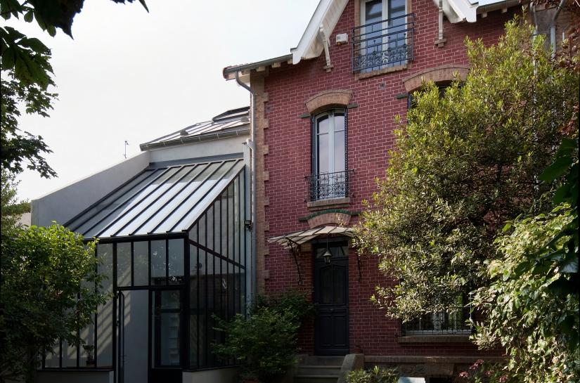 Façade coté rue - Extension