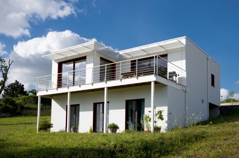 Maison passive - vue jardin
