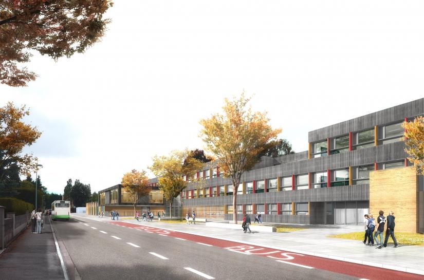 Collège Elsa Triolet - Perspective Extérieure