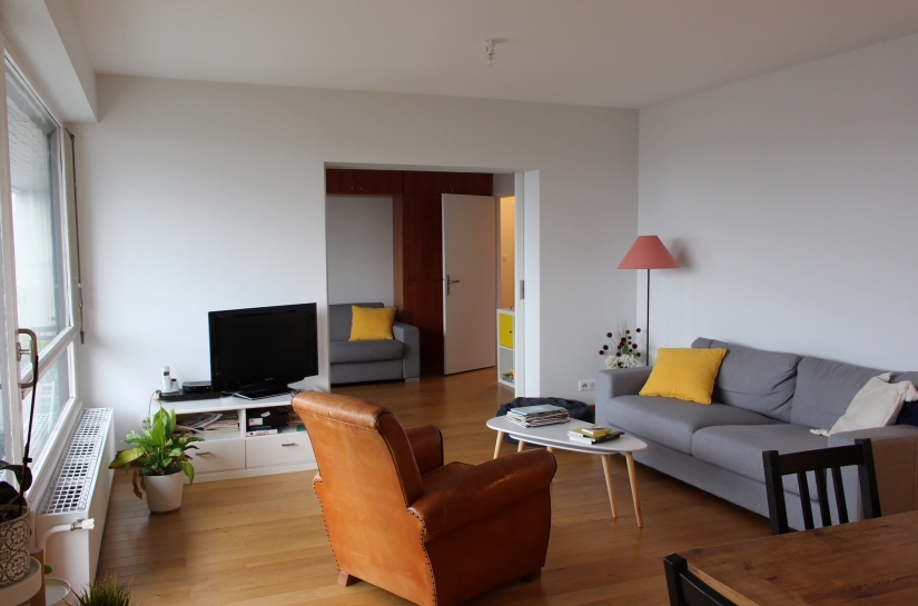 Réhabilitation d'un appartement - Salon