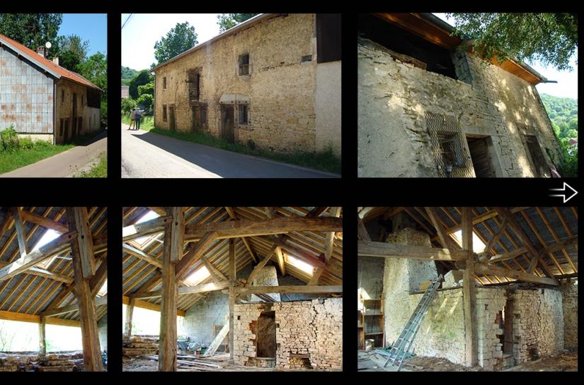 rehabilitation d'une grange à OUGNEY-LE-BAS