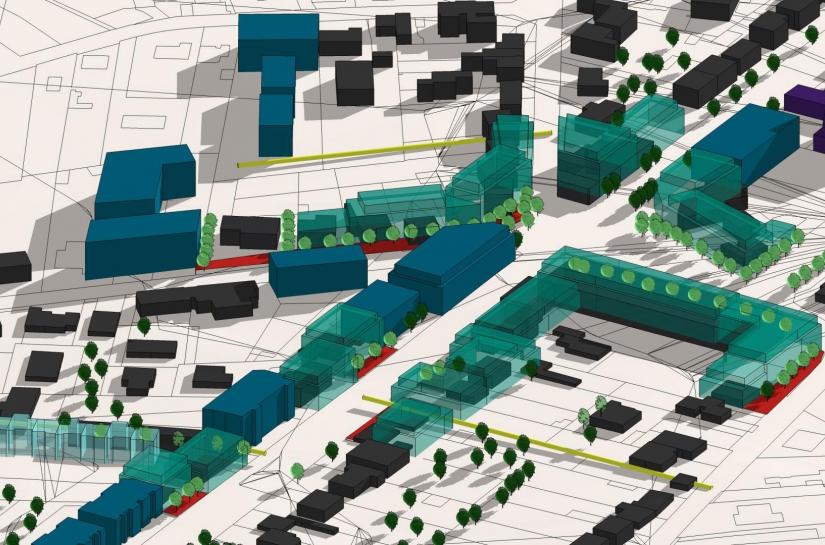 Tester la constructibilité et l'épannelage d'un axe structurant de la métropole passe par du terrain, des plans mais également des maquettes 3D