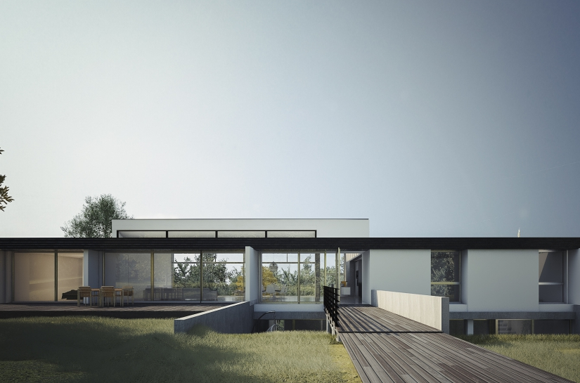 Reconfiguration lourde d'une maison de l'architecte Jean Pierre Watel situé à Ville d'Avray.