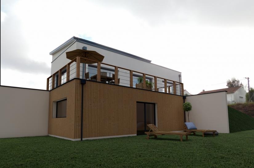Extension en bardage bois, pour une maison individuelle