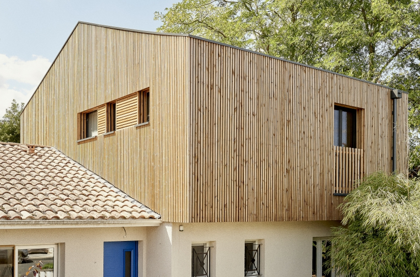 Surélévation Maison, Ossature Bois V33, Pessac 33 - Nouvelle Aquitaine
