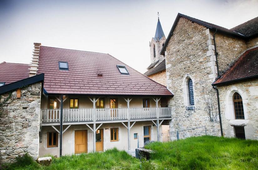 Réhabilitation de l'ancien presbytère de Magnieu, vue globale, projet finalisé