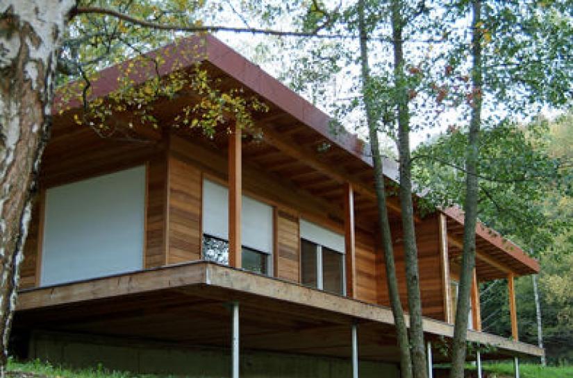 maison ossature bois à Neubois