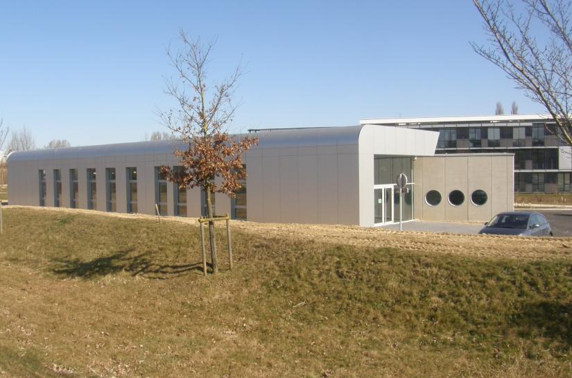 construction du siège social de la Société OCI au Parc des collines à Didenheim