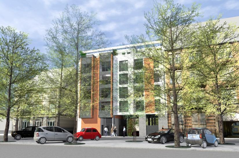 Construction d'une immeuble d'habitation en centre ville
