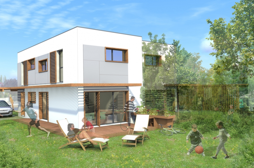 maison 1 de 80 m2 et maison 2 de 100m2