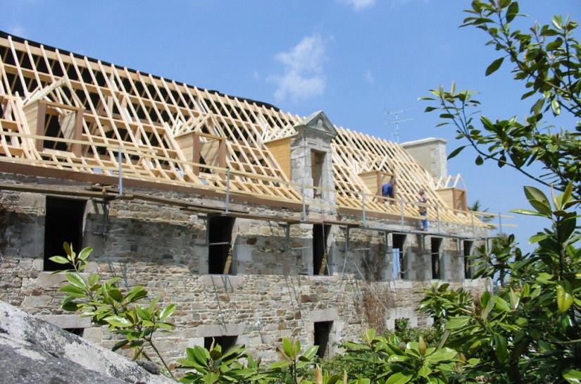 Rénovation charpente ancien presbytère