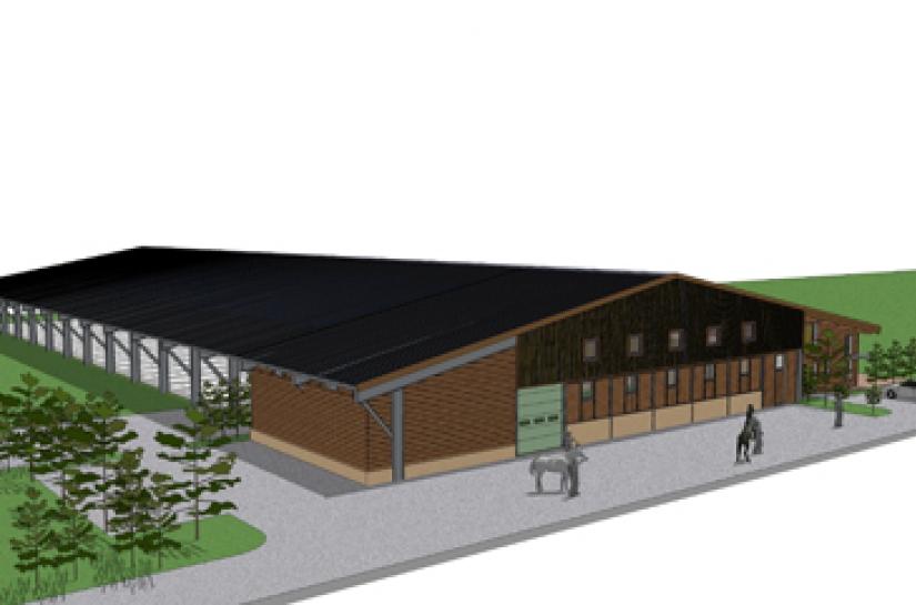 Bâtiment destiné à l'élevage et à la valorisation du cheval de compétition