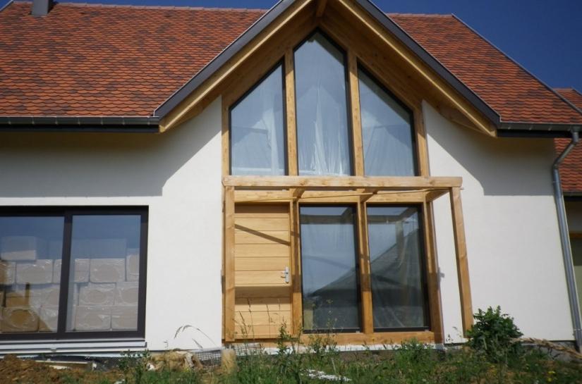 maison bioclimatique ossature bois site classé BBC alsace bas-rhin