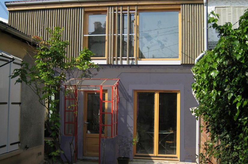 Surélévation et réhabilitation lourde d'une maison à Bagnolet