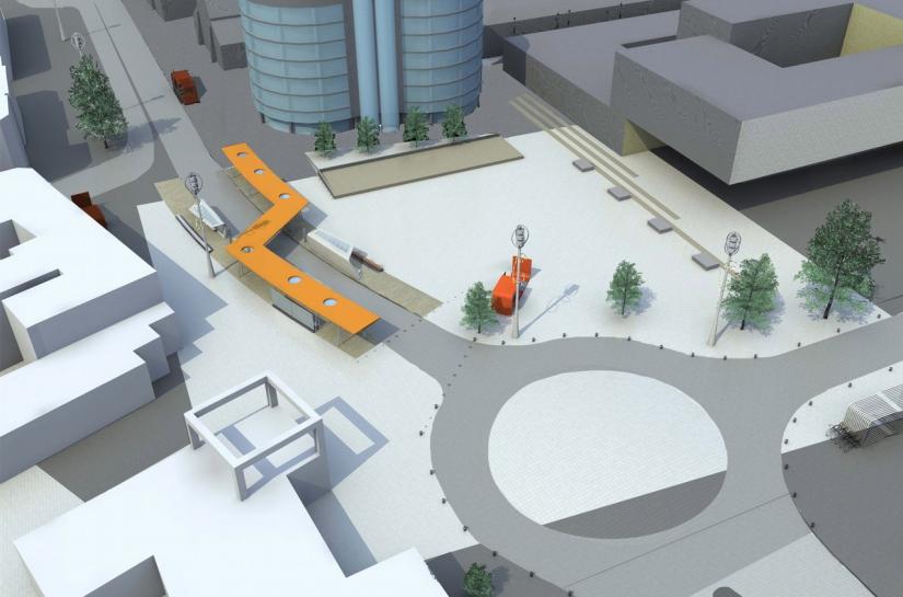 Place du centre-ville de Seraing réaménagée