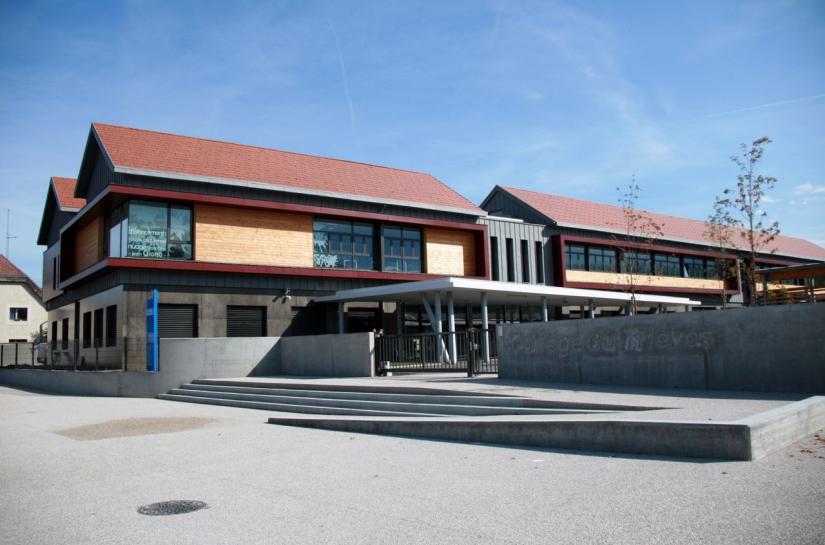 Enseignement, façade - Collège du Trièves à Mens - Adhoc Architecture - Jean Michel Costaz