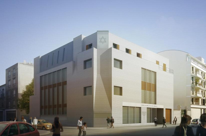 Synagogue CENTRE CULTUEL ET CULTUREL JUIF à BOULOGNE-BILLANCOURT vue extérieure