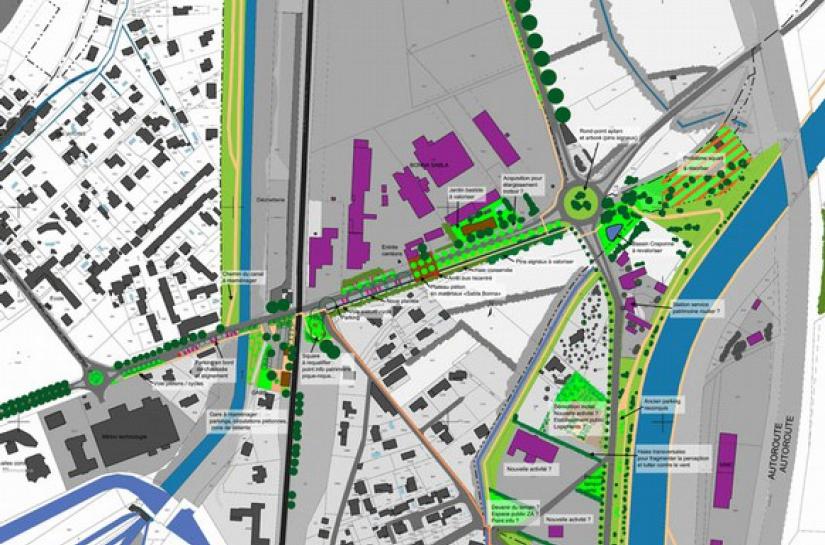 plan traitement des entrées de ville lamanon étude benoit sejourne architecte