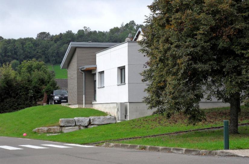 Maison médicale de Pugey - Façade Nord