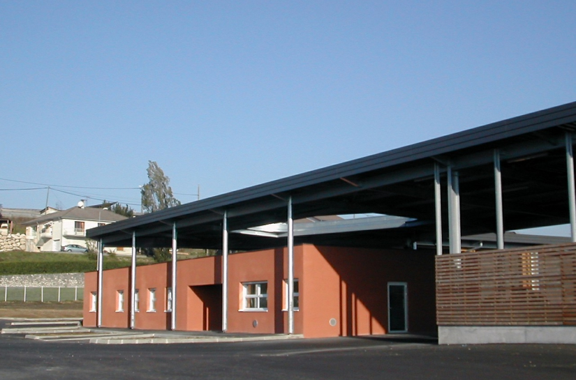 Façade principale - Centre Technique à Saint Marcellin  - Adhoc Architecture - Jean Michel Costaz